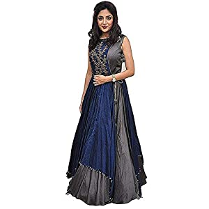 Dove Enterprise Women's Taffeta Silk Anarkali Kurta