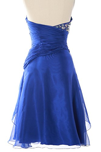 MACloth Women Strapless Short Prom Dress Tiered Cocktail Party Formal Gown Amarillo