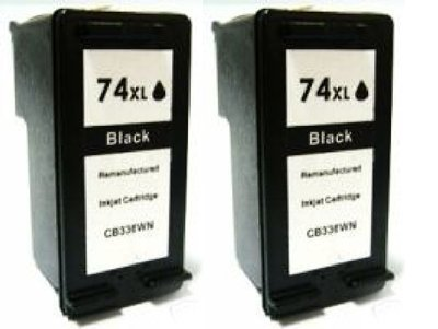 HouseOfToners Remanufactured Ink Cartridge Replacement for HP 74XL CB336WN (2 Black, 2-Pack)