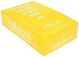 Milk Drunk Energy Protein Bars for Breastfeeding Mamas - 12 Individually Wrapped Bars - 10g Protein 12g Fiber Only 4g Sugar - Lactation-Boosting for Breastmilk Supply