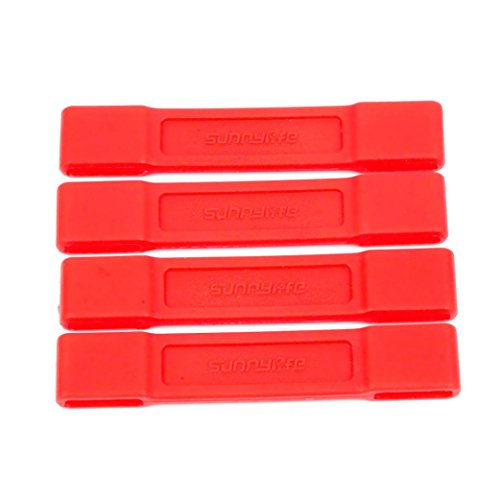 Cinhent Drone Accessories Kit, 4 PCS Props Holder, Blade Bracket Propeller Fixation Protection Holder Clasp For DJI Mavic AIR Drone, Quadcopter Parts, No Drone (Red)