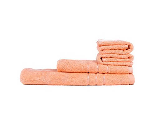 Towel Town Set of 4 Ecospun Towels ( 2HT + 2BT ) Peach