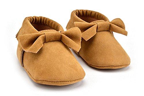 Summens Lauflernschuhe Krabbelschuhe Weiche Krabbelschuhe für Babys und Kleinkinder Khaki