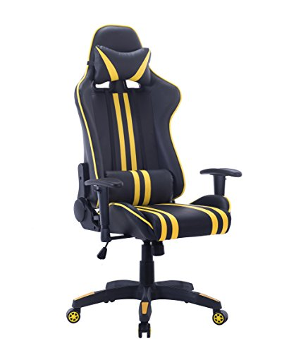 High-Back-Gaming-Chair-Computer-Chair-Ergonomic-Design-Racing-Style-Chair-Premium-Leather-Lumbar-Support-Swivel-Executive-Esports-Office-Chair