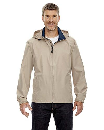 North End Mens Techno Lite Jacket. 88083 XXX-Large Putty / Midnight Navy