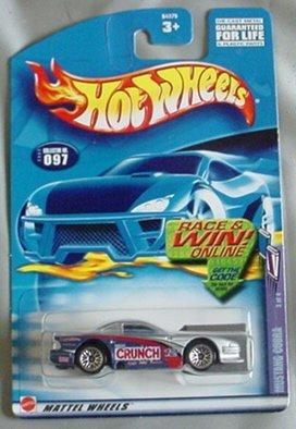 Cobra Silver Wheel - Hot Wheels 2002 Mustang Cobra Sweet Rides 3/4 #097 #97 SILVER Crunch 1:64 Scale