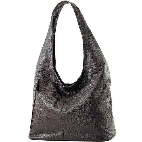 T166 T150 Ital Bag De Bag Bandolera Bandolera Chocolate Damentasche Damentasche Shoulder Bolsa T150 Wildleder Modamoda Modamoda Ital Shoulder Wildleder Cuero De Bag De Negro Leather Dark Chocolate T166 Sfn5q6w