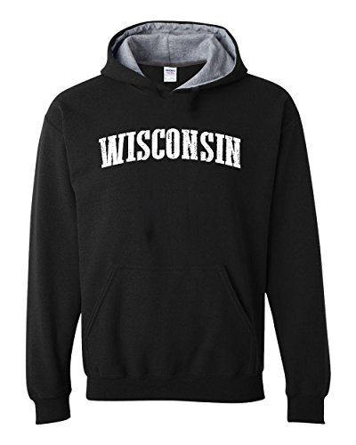 Ugo WI Milwaukee Map Badgers Panthers Home University of Wisconsin Flag Contrast Color Unisex - Men Wi