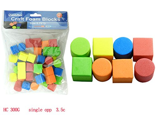 Foam Block for Kids (Pack of 3-150 Pcs) Ideal for Art & Craft Project, School Projects, Toddlers Fine Motor Skills & Tasks, Building Block Cubes by J&J's ToyScape