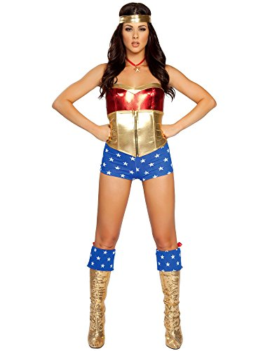 Comic Book Heroine Adult Costume - Small/Medium