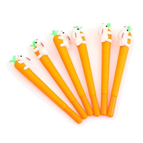 WIN-MARKET Gel Pens Set Cute Novelty Lovely Cartoon Kawaii Rabbit Vegetable Carota Carrot Roller ball Pen funny School Stationery Office Supply Gifts (8 pcs)