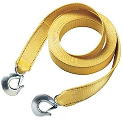 "Master Lock 3174AT 15' X 2"" Tow Strap with Forged Hooks and Clips, 10000 lbs Break Strength/3333 lbs Working Load Limit: Automotive"