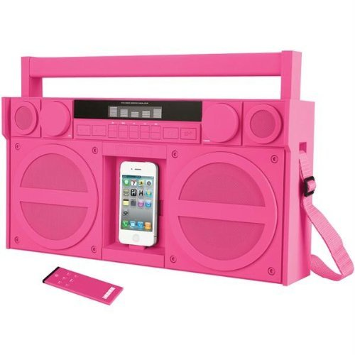 Portable Fm Stereo Boomboxpink Fm Stereo Boombox For Iphone Ipod