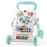 Ybriefbag-Toys Baby Three-in-one Activity Walker Baby Walker Anti-Rollover Trolley Baby Music Play 6-18 Months Adjustable Speed Walker (Color : Pink, Size : 454634CM)