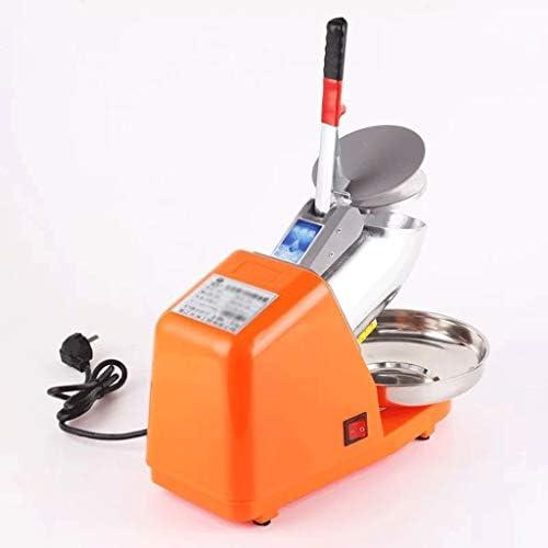 アイスクラッシャー,かき氷機,かき氷メーカー, カクテルアイスクリームのためのアイスクラッシャーブレンダーダブルナイフ電気シェーバーアイスマシンスムージーメーカー85キロ/時間かき氷メーカー (Color : Orange)
