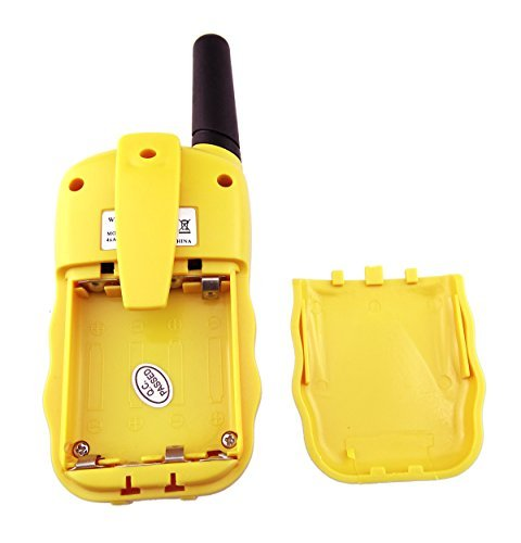 2Pcs XFox® BBCARE Serise T388 Radio 2 Miles 22 FRS and GMRS UHF Radio for Kids Walkie-Talkie(Yellow)