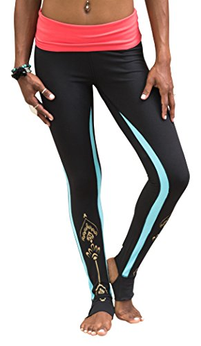 Gaiam Apparel Womens Foldover Legging