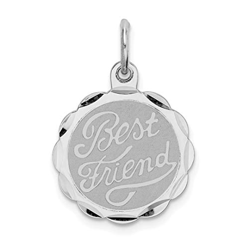 925 Sterling Silver Best Friends Bestfriend Friendship Disc Pendant Charm Necklace Special Person Fine Jewelry For Women Gift Set