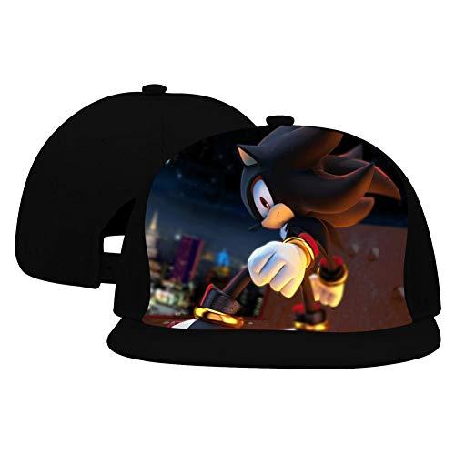 Hip-Hop Baseball Cap Sha-Dow The Hedg-ehog Full Print Adjustable Trucker Sun Visor Cap Black ()