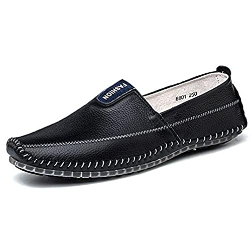 Men's Trendy Leather Anti Skid Slip on Driving Moccasins Shoes Low Top Flats Loafers