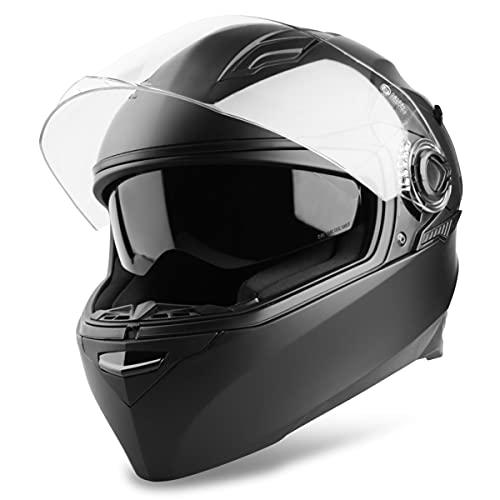 Vinz Kensal Integralhelm mit Sonnenblende | Motorrad Helm Vollvisierhelm | Motorradhelm Full-Face Helme