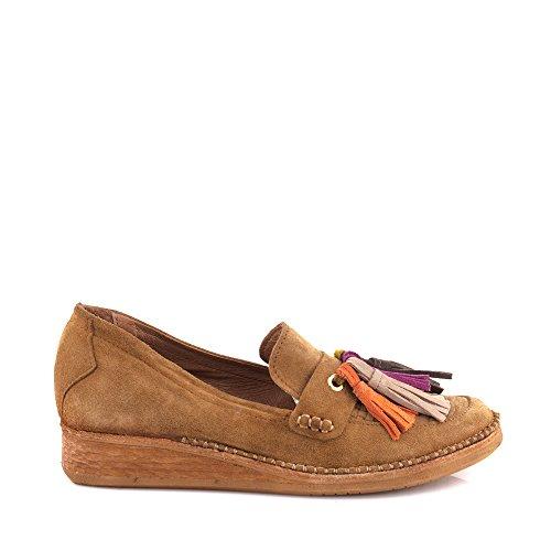 Felmini - Zapatos para Mujer - Enamorarse com Thita A203 - Mocasines - Cuero Genuino - Beige Beige