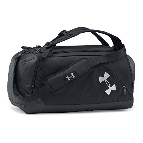 Under Armour Storm Contain Backpack Duffle 3.0,Black /Silver, One Size