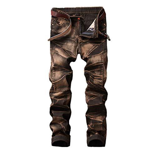 Slim Marron Homme Jeans Coupe Noir Zgsjbmh Déchiré Skinny Extensible Hommes Jean 3 couleur Laiton Taille Eu 1 Denim Pour 41 En qwXdXR7