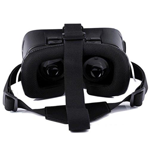 [해외]마카 론 VR BOX 버추얼 리얼리티 3D 안경 블루투스 + 이어폰 러버 오일 코팅 화이트/Makalon VR BOX Virtual Reality 3D Glasses Bluetooth+Earphone Rubber Oil coating WHITE