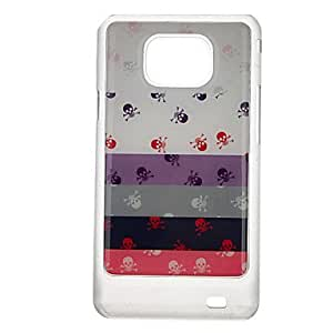 GHK - Streak Skull Pattern Protective Hard Back Case Cover for Samsung Galaxy S2 I9100