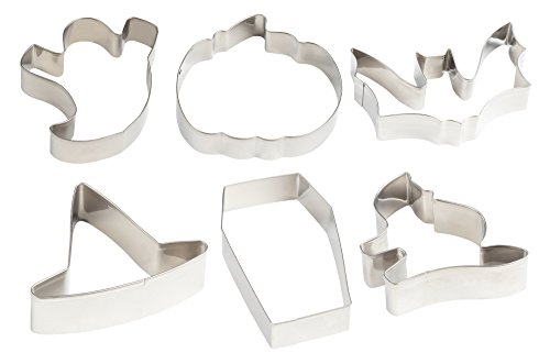 Halloween Cookie Cutter and Decorating Set - Set of 9 Stainless Steel Cutters with Squeeze Bottles, Ghost, Bat, Coffin, Pumpkin, Witch Hat and Cat Designs by Juvale (Image #4)