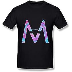 YZ Maroon 5 Tour 2016 Logo Fan Logo T Shirt For Men Black XL