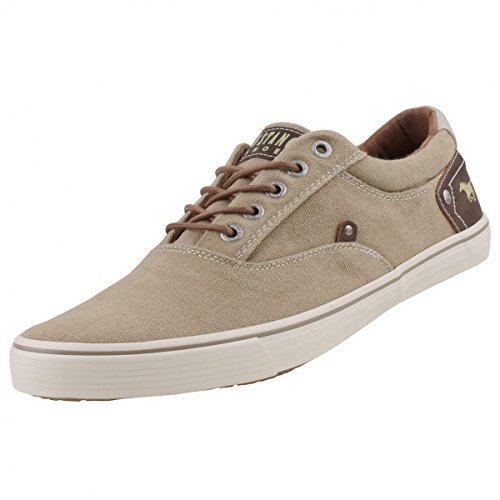 Mustang Chaussures en Toile pour Homme Beige