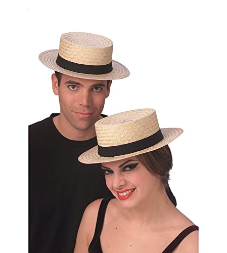 Rubie's Costume Co Economy Straw Sailor Hat Costume, Large, 2 Pack (Four Pack) by Rubie's