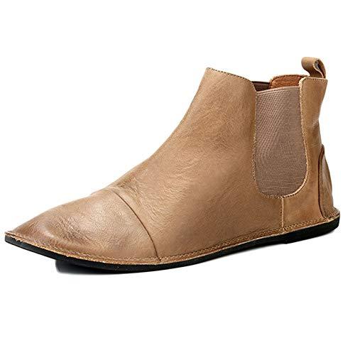 da Nozze Khaki da Uomo Boots Uomo Brogue Classic Stivali Chelsea Basse Pelle Scarpe Uomo Sicurezza Autunno wBAqHgzx
