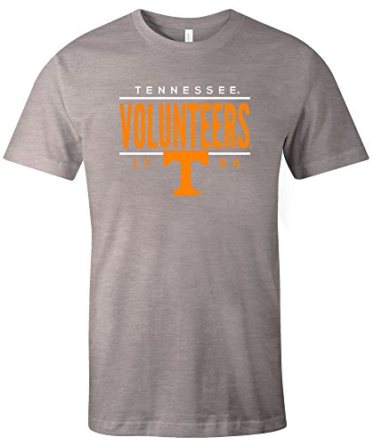 Image One NCAA Tennessee Volunteers Tradition Short Sleeve Tri-Blend T-Shirt, Athletic Grey,XX-Large - Tennessee Volunteers College Basketball
