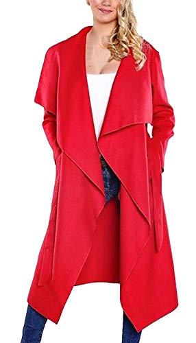 Trench Giubotto Bavero Sciolto Primaverile Rot Betrothales Manica Windbreaker Donna Monocromo Giacca Cappotto Casuali Autunno Eleganti Lunga NOn8wPkX0