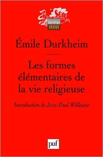 En ligne téléchargement Les formes élementaires de la vie religieuse (6e éd.) pdf