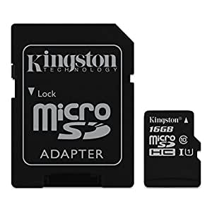 Kingston SDC10G2/16GBFR microSDHC Card 16GB Class 10 UHS-I SDC10G2/16GBFR