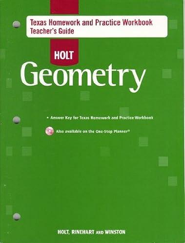 amazon com holt geometry texas homework and practice workbook rh amazon com Holt Geometry Worksheet Holt Geometry Chaapter 2