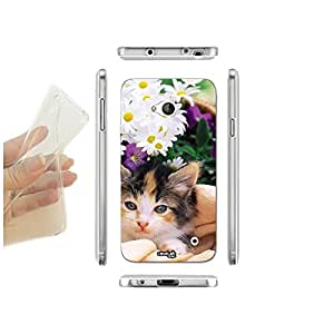 FUNDA CARCASA SLIM MARGHERITE CAT PARA MICROSOFT LUMIA 550 TPU