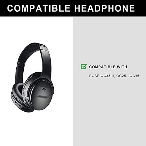 Defean 交換用イヤークッション ソフトプロテインレザーと低反発素材 ブルーイヤーパッド Bose Quiet Comfort 35 (QC35) QuietComfort 35 II (QC35 II) ヘッドホン用 s グレイ