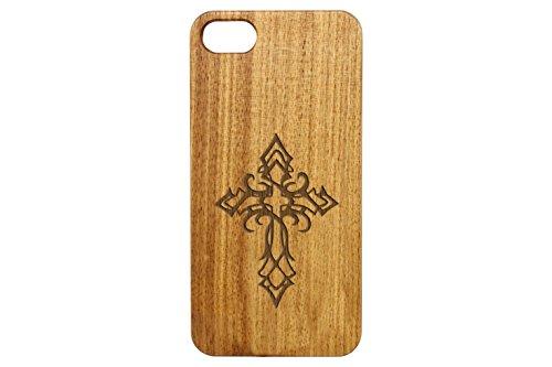 - for Apple iPhone 7 & 8 Zebrawood Wood Phone Case NDZ Tribal Cross