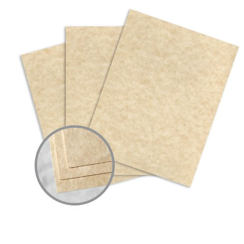 Astroparche Aged Card Stock - 8 1/2 x 11 in 65 lb Cover Vellum 30% Recycled 250 per - Wausau Vellum Paper Paper