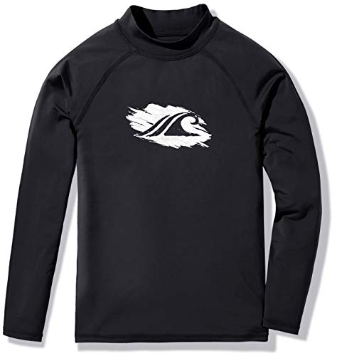 TSLA Boys & Girls UPF 50+ Long Sleeve Rashguard Youth Surf Kids Swim Top