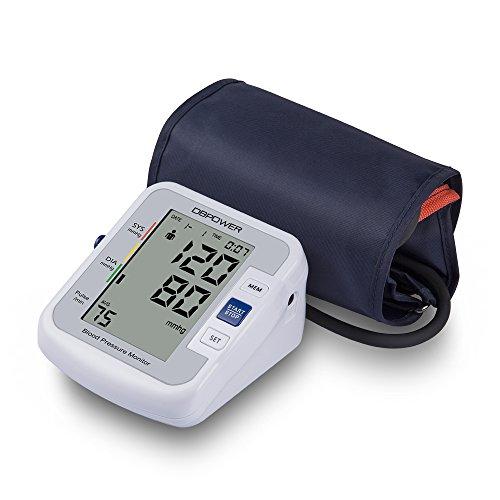 DBPOWER Smart Oberarm Blutdruckmessgerät Meter, IHB und WHO Indikator, 90x2 Speicher für 2 Nutzer, FDA zugelassenes digitales Blutdruckmessgerät (Armband 22cm-42cm)