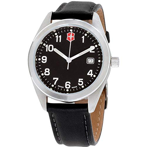 Victorinox Garrison Black Dial Leather Strap Men's Watch 26034CB