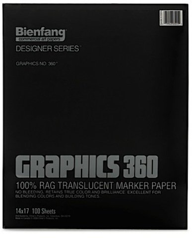 Bienfang Graphics 360 100% Rag Translucent Marker Paper (14 In. x 17 In.) - Pad of 100 1 pcs sku# 1836502MA
