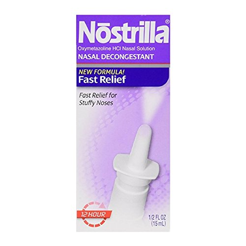 Nostrilla Nasal Decongestant Original Fast Relief 0.50 oz (Packs of 6) by Nostrilla