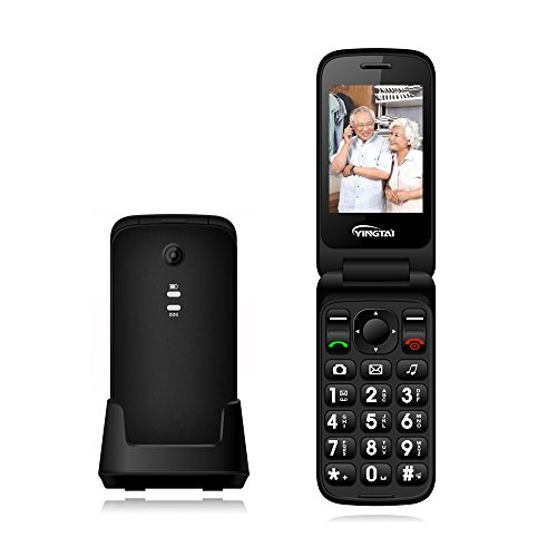 YINGTAI T21 3G Big Button Senior Phones with Speed Dial ,Att Flip Cell Phones Unlocked Dual Sim with SOS Emergency Call,Flip Clamshell Mobile Phones for Elderly ,Kids